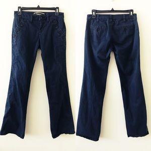 ANTHROPOLOGIE Navy Blue Wide Leg Pants